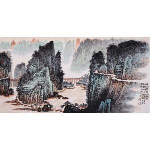 当代中国山水画主要代表人    钱松岩《溪山佳丽忆江南》