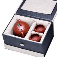 宜兴紫砂壶原矿老紫泥纯全手工泡茶壶茶具套装松鼠葡萄