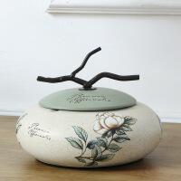北欧家用带盖烟灰缸创意个性陶瓷潮流大号欧式客厅茶几烟缸复古