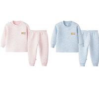 婴幼儿童高腰男童女宝宝保暖内衣套装0加厚1岁2三层夹棉3婴儿