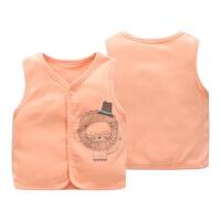 婴儿马甲秋冬双层厚款棉保暖背心坎肩3-12个月秋宝宝儿童马甲