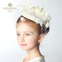儿童公主小礼帽发饰派对公主六一晚会主持礼服头饰演出女