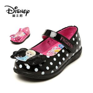 【达芙妮集团】迪士尼 春秋款女童单鞋中童鞋女孩皮鞋公主鞋