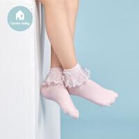 【用券满129立减30】3双装都市丽人都市贝比cosmobaby儿童组合短袜女童蕾丝花边袜子