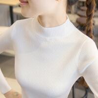 女装打底衫半高领毛衣打底衫女长袖内搭秋冬新款2019新款百搭修身紧身针织衫