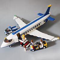 兼容乐高积木男孩子城市系列大型客机军事飞机拼装益智力儿童玩具