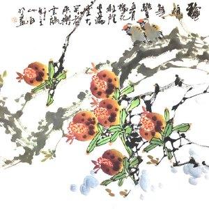 青年实力派画家,被授予陶瓷工艺美术大师,景德镇青年画院院长白羽(鼠硕年丰)