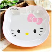 hellokitty 碗套装 kt猫hello kitty密胺猫头碗饭碗小汤碗双层加厚沙拉
