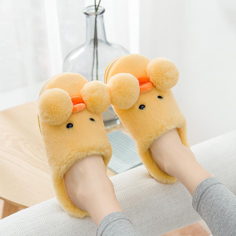 棉拖鞋可爱居家厚底冬韩版包跟月子鞋亲子室内棉鞋