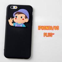 情侣硅胶苹果7/6s手机壳 iPhone8/6plus保护套防摔自带防尘塞全包
