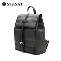 【领券减120】St&Sat/星期六时尚新款男士旅行单肩斜跨包包SS63220501