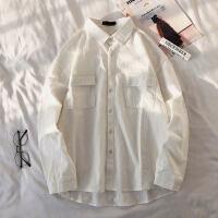 长袖衬衫男工装衬衣心机设计感外套潮牌港风韩版潮流cec超火洋气涂