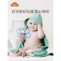 曼哈顿手抓球婴幼儿手摇铃牙胶宝宝磨牙棒可水煮咬咬套装益智玩具
