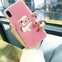 猪年手机壳苹果6s女款卡通可爱iphonex套情侣款7/8plus软壳一只猪