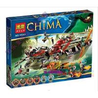 欢乐童年 博乐10061拼装积木 气功传奇 鳄霸王指挥船70006 拼插玩具