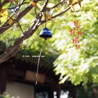 风铃日式 富士山风铃日式南部铸铁挂件复古铃铛和风装饰祈福日料店餐厅挂饰