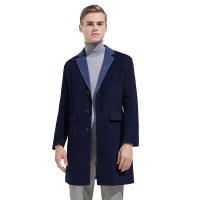 【网易严选3件3折】男式双色双面纯羊毛大衣