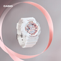 casio旗舰店BA-110黑金电子运动防水手表女卡西欧官网官方 BABY-G