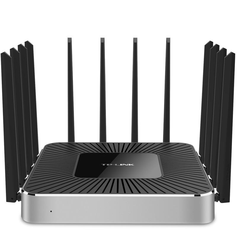 TP-LINK TL-WVR4300L 三频全千兆无线路由器企业级 12天线穿墙王wifi智能宽带上网行为VPN微信认证 带机250台 三频4300M 多WAN口 宽带负载均衡