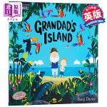 【中商原版】班吉戴维斯:爷爷的天堂岛 英文原版 GrandadS Island 绘本 3-6岁