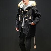 冬季中长款棉衣外套男士大毛领羊羔绒棉服新款学生冬装ins潮