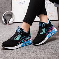 货到付款 2017女士运动气垫鞋韩版休闲鞋内增高女鞋透气跑鞋单鞋时尚学生百搭潮鞋