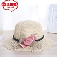 春夏季新款太阳沙滩帽 圆顶休闲花朵草帽户外遮阳帽凉帽厂家批发