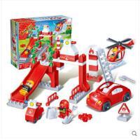 【大颗粒】邦宝益智玩具拼插积木儿童礼物 城市系列 消防总局9631
