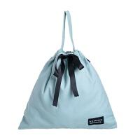 布艺束口袋加厚杂物收纳袋 旅行衣物内衣整理袋抽绳布袋子 33*31.5cm