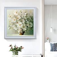 蒙娜丽莎印花十字绣新款客厅线绣小幅画花卉简约现代卧室新手餐厅