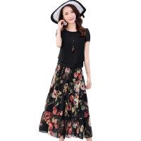 动 感连衣裙女桑蚕丝春夏韩版气质高档丝雪纺两件套新裙子