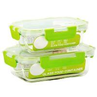耐热玻璃饭盒微波炉用保鲜碗家用便当盒带盖密封保鲜盒