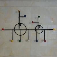 创意铁艺衣服挂钩饰品壁挂架包包钥匙装饰挂钩墙上免打孔强力粘钩