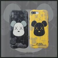 潮牌小熊8plus/7p/6s苹果x手机壳XS Max/XR/iPhoneX女iphone11Pro硅胶套创意个性日韩国