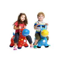 儿童充气玩具跳跳马音乐加大加厚宝宝坐骑小马玩具木马橡皮抖音 +大号羊角球