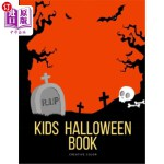 【中商海外直订】Kids Halloween Book: halloween coloring and activit