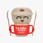 当当优品 壳氏唯稻壳环保创意可爱 儿童宝宝餐具套装勺子叉子水杯 小雷锋-乐乐