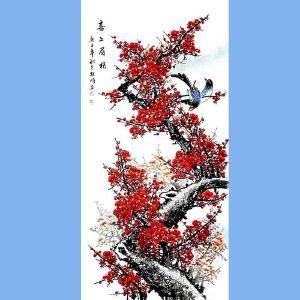 中国美术家协会会员,龙云书画院院长候桂峰(喜上眉梢)