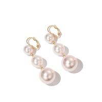 2019年新款耳钉耳饰女士气质925银仿珍珠耳坠红色耳环