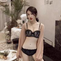 性感内衣深V聚拢小胸罩收副乳调整蕾丝厚款本命年红色