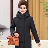 中老年女装棉衣妈妈装冬装羽绒棉棉衣中长款棉袄宽松休闲外套2019 XL 建议85----105斤
