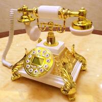仿古电话机复古电话机时尚欧式电话家用古董座机白色客厅座机