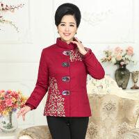 中老年女装冬装棉衣短款中年妈妈40-50-60岁加厚保暖 XL 建议90-110