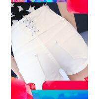 牛仔短裤女夏2019新款韩版学生高腰牛仔裤紧身小脚超短裤ins热裤