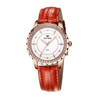 天王表女士手表休闲皮带腕表时尚女表LS3795P-R/B