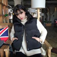 羽绒棉马甲外套女学生韩版春秋冬款学院风面包服坎肩无袖背心马夹