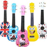 儿童尤克里里初学者小吉他可弹奏男女孩宝宝木制仿真吉他玩具
