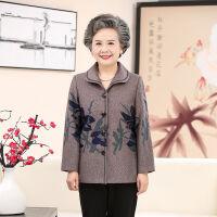 中老年女装秋冬季外套60-80岁奶奶装上衣长袖翻领奶奶装外套老人 XL 建议110斤以下