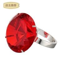 水晶钻石戒指求婚创意道具七夕情人节表白神器送女友老婆生日礼物SN4683