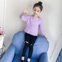 儿童毛衣秋冬2018新款韩版中大童女孩套头针织衫